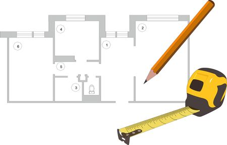 Project design concept vector Stock Illustratie