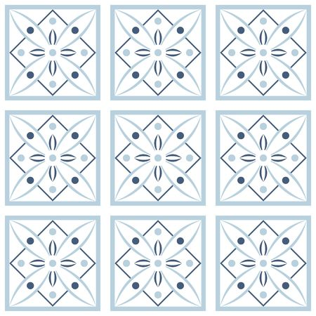 Vector seamless tile pattern. Endless texture can be used for wallpaper, pattern fills, web page background,surface textures. Illustration on white background Ilustrace
