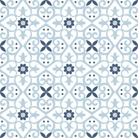 Nahtloses Fliesenmuster des Rasters. Endlose Textur kann für Tapeten, Musterfüllungen, Webseitenhintergrund und Oberflächentexturen verwendet werden. Illustration auf weißem Hintergrund