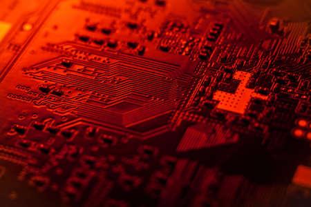 conductive: Sircuit board, SMT Stock Photo
