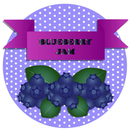 illustration of blueberry jam stickers