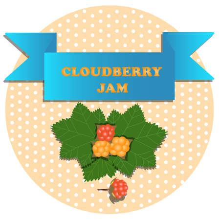 Cloudberry jam stickers on Polk dot Ilustração