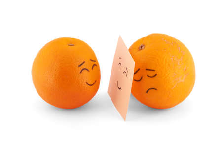 Joy, sadness and lie in oranges