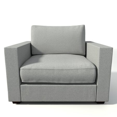 designer chair: 3d illustration of a modern chair Stock Photo