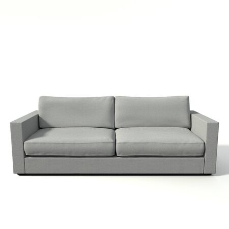 white sofa: 3d illustration of a modern sofa Stock Photo
