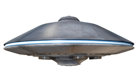 3d illustration of a flying saucer 免版税图像