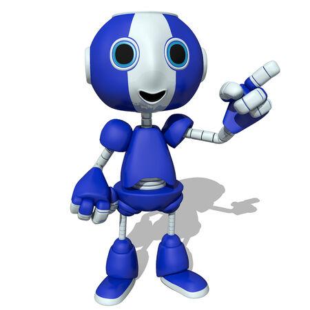 bot: 3d illustration of a cute robot