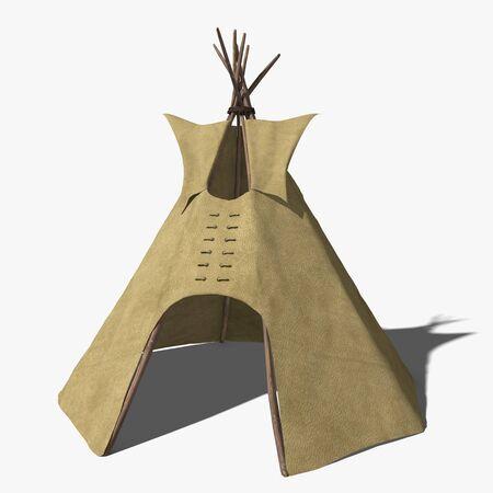 tipi: 3d illustration of a ti pi tent Stock Photo