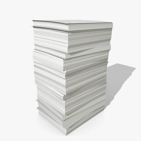 紙のスタックの 3 d イラストレーション