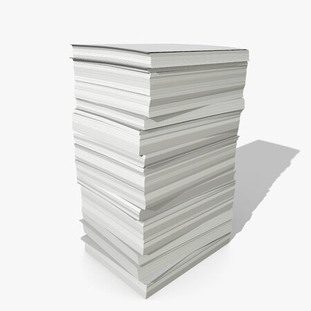 3d illustration of a stack of paper