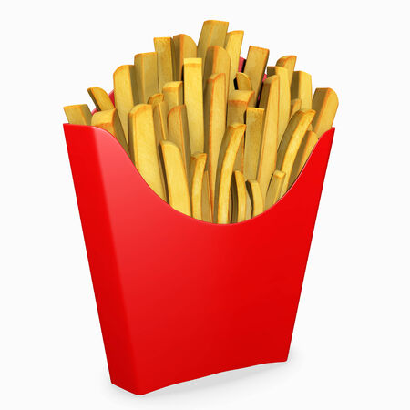 3d illustration of french fries