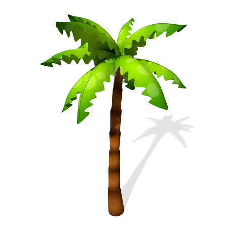 3d illustration of a cartoon palm tree 免版税图像