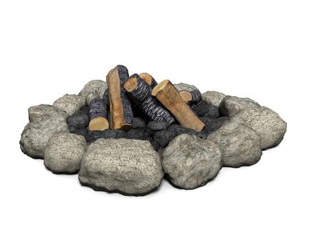 キャンプファイヤーの 3 d イラストレーション