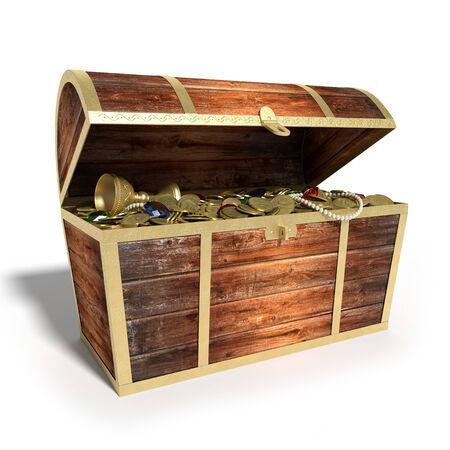 treasure hunt: 3d illustration of a Treasure Chest
