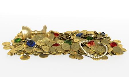 treasure hunt: 3d illustration of Treasure