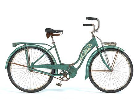 古い自転車の 3 d イラストレーション 写真素材