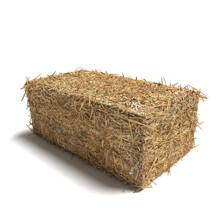 3d illustration of a hay bale