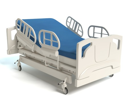 3d illustration of a hospital bed