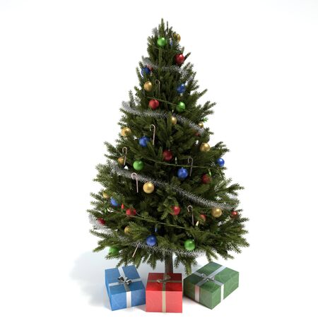 3d illustration of a Christmas tree 免版税图像