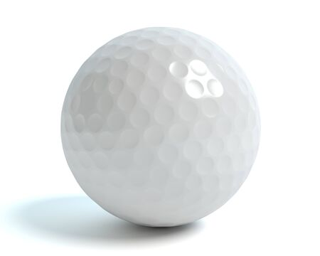 3d illustration of a golf ball 免版税图像