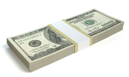 3d illustration of a stack of money