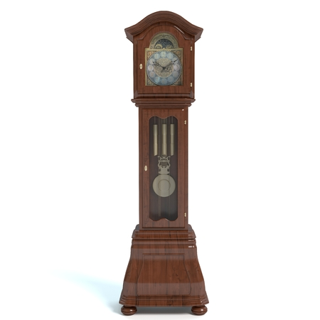 3d illustration of a grandfather clock 免版税图像