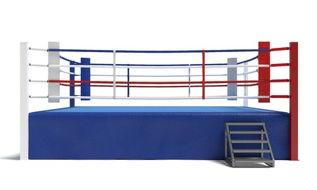3d illustration of a boxing ring