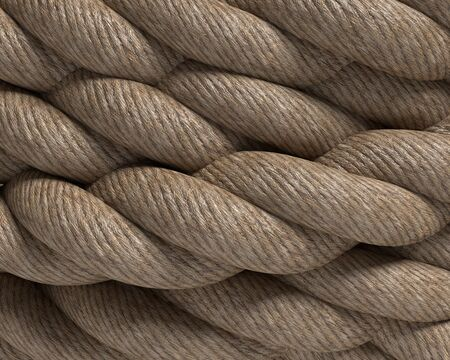 3d illustration of rope