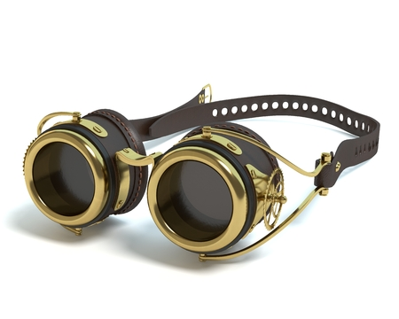 steampunk goggles: 3d illustration of steampunk goggles