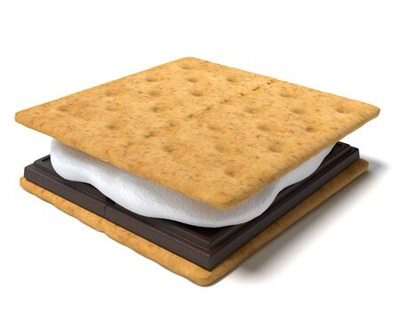 3d illustration of a smore
