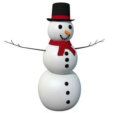 雪だるまの 3 d イラストレーション 写真素材