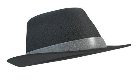 fedora: 3d illustration of a fedora hat