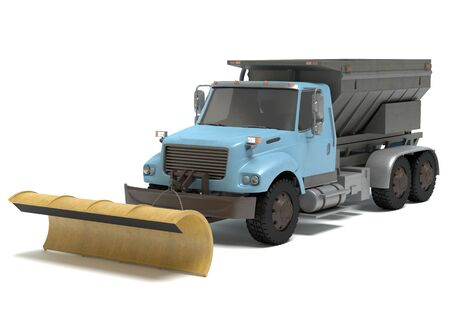 plow: 3d illustration of a snow plow