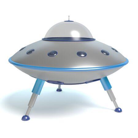 3d illustration of a flying saucer Imagens