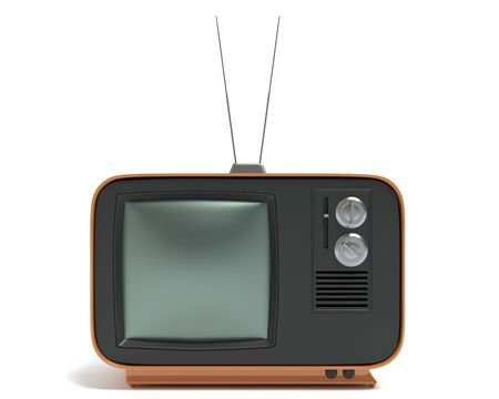 retro tv: 3d illustration of a retro tv