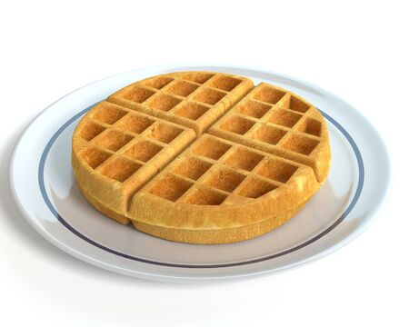 3d illustration of a waffle 免版税图像