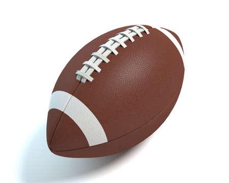 3d illustration of a football Imagens