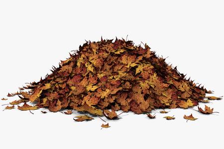 葉の山の 3 d イラストレーション 写真素材