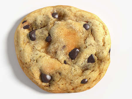 3d illustration of a chocolate chip cookie