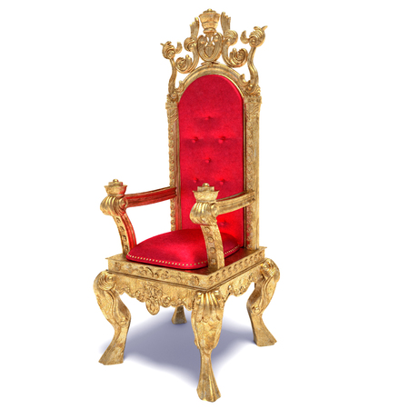 3d illustration of a kings throne chair