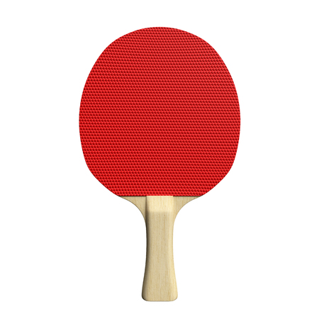 3d illustration of a table tennis paddle Imagens