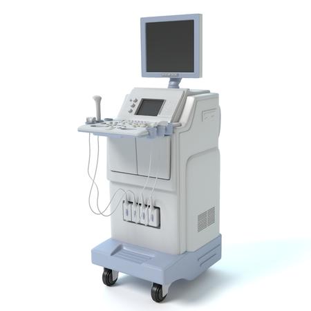 3d illustration of an ultrasound machine