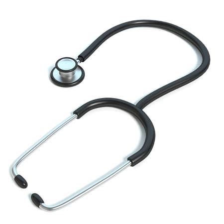 3d illustration of a stethoscope Imagens