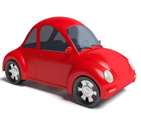 3d illustration of a cartoon car