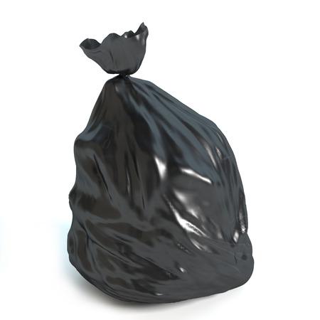 3d illustration of a garbage bag