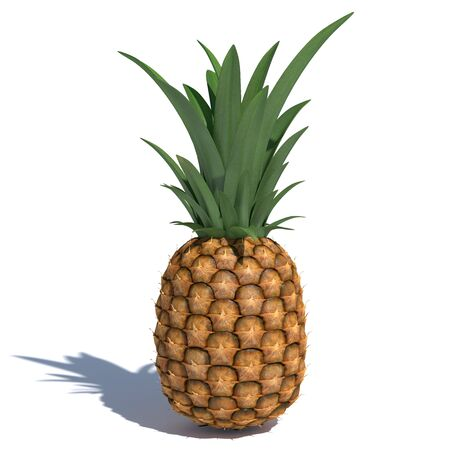 3d illustration of a pineapple Stock Photo