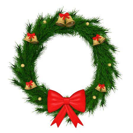 3d illustration of a Christmas wreath