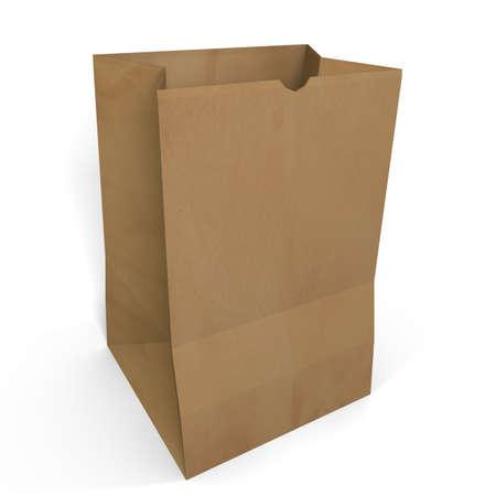 3d illustration of a brown paper bag