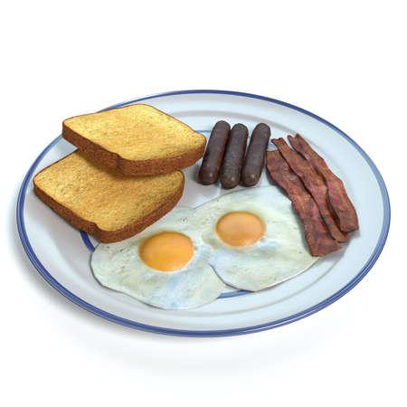 3d illustration of breakfast