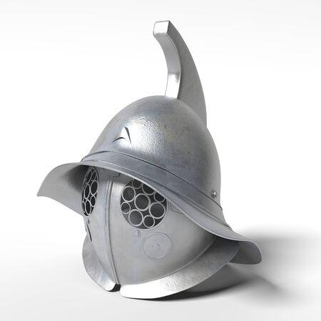 3d illustration of a gladiator helmet